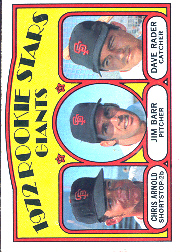1972 Topps Baseball Cards      232     Chris Arnold/Jim Barr/Dave Rader RC